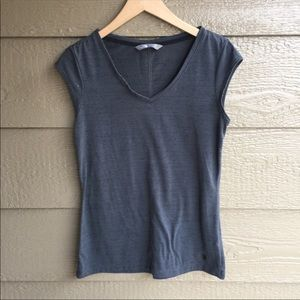 The North Face Grey V Neck Active Casual Tee